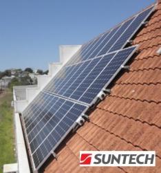 Suntech solar panels installation